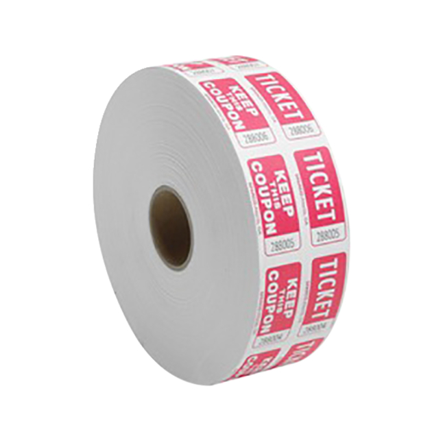 Image for Sparco Roll Tickets, Red, 2,000 per Roll, Each from School Specialty