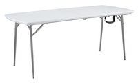 Image for National Public Seating Heavy Duty Fold-in-Half Table, 30 x 72 Inches, Speckled Grey from SSIB2BStore