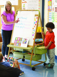 Image for Copernicus Single Sided Bamboo Teaching Easel from School Specialty