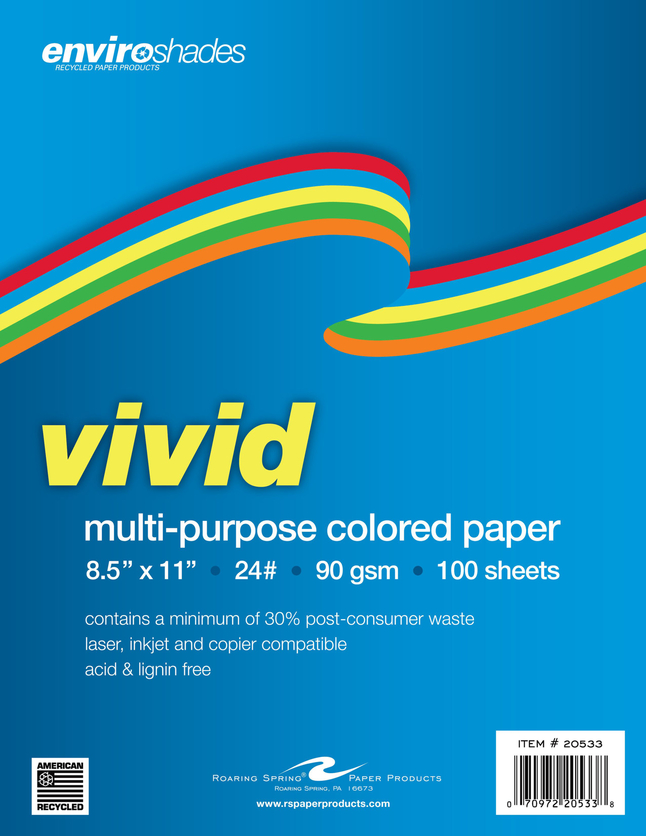 Colored Copy Paper, Item Number 2028996