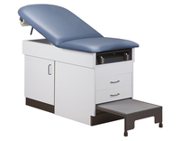 Image for Clinton Laminate Exam Table, Maple with Slate Blue Material, Step Stool Included from School Specialty