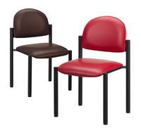 Image for Clinton Black Frame Chair - No Arms from SSIB2BStore