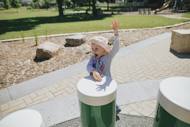 Image for Ultra Play Systems Inc Toddler Tuned Drums With Natural Caps (in Ground), 80 W X 54 D X 7 H In from School Specialty