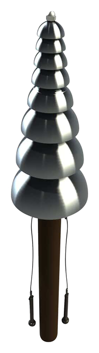 Image for Ultra Play Systems Inc Pagoda Bells Surface Mount, 66 W X 12 D X 12 H In from School Specialty