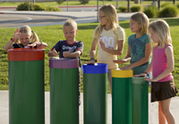 Image for Ultra Play Systems Inc Toddler Tuned Drums With Rainbow Caps (in Ground), 37 W X 75 D X 15 H In from School Specialty