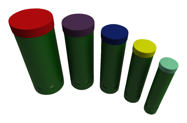 Image for Ultra Play Systems Inc Tuned Drums With Rainbow Caps (surface Mount), 37 W X 75 D X 15 H In from School Specialty