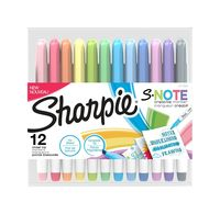 Image for Sharpie S-Note Creative Markers, Assorted Colors, Set of 12 from SSIB2BStore