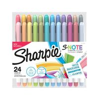 Image for Sharpie S-Note Creative Markers, Assorted Colors, Set of 24 from SSIB2BStore