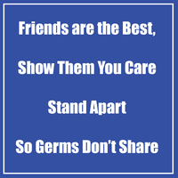 Image for Healthy Habits Wall Stickers, Friends Are The Best, Blue, 5 pack from School Specialty