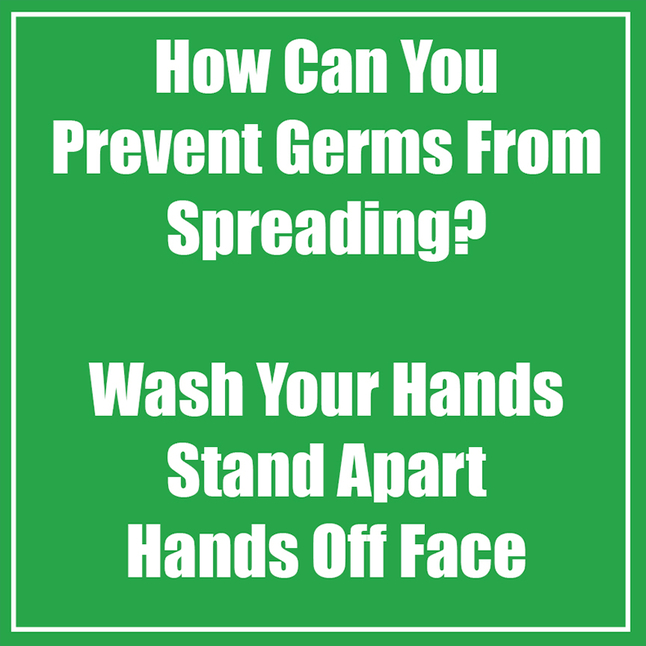 Image for Healthy Habits Wall Stickers, How Can you Prevent Germs From Spreading, Green, 5 Pack from School Specialty