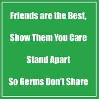Image for Healthy Habits Floor Stickers, Friends Are The Best, Green, 5 Pack, Non-Slip from School Specialty