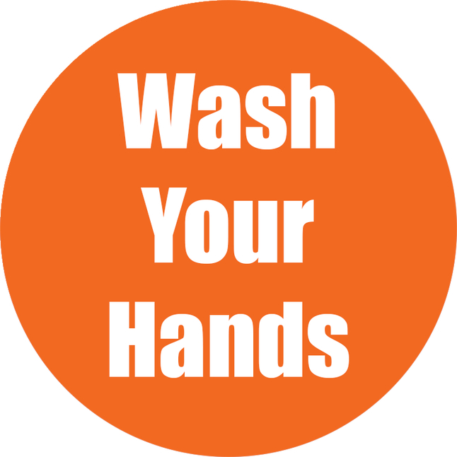 Image for Healthy Habits Floor Stickers, Wash Your Hands, 5 Pack, Orange, Non-Slip from School Specialty