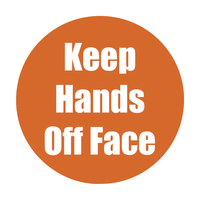 Image for Healty Habits Floor Stickers, Keep Hands Off Face, 5 Pack, Orange, Non-Slip from School Specialty