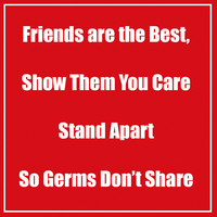 Image for Healthy Habits Wall Stickers, Friends Are The Best, Red, 5 Pack from School Specialty