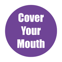 Image for Healthy Habits Floor Stickers, Cover Your Mouth, 5 Pack,Purple, Non-Slip from SSIB2BStore