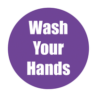 Image for Healthy Habits Floor Stickers, Wash Your Hands, 5 Pack, Purple, Non-Slip from School Specialty