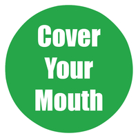 Image for Healthy Habits Floor Stickers, Cover Your Mouth, 5 Pack, Green, Non-Slip from School Specialty