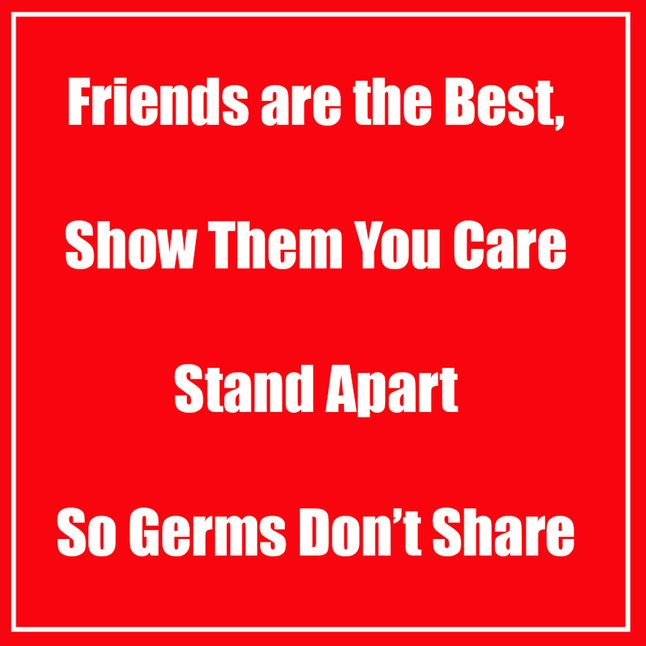 Image for Healthy Habits Floor Stickers, Friends Are The Best, Red, 5 Pack, Non-Slip from School Specialty