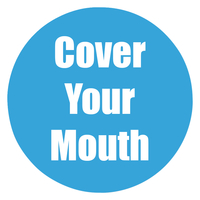Image for Healthy Habits Floor Stickers, Cover Your Mouth, 5 Pack, Cyan, Non-Slip from School Specialty