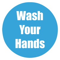 Image for Healthy Habits Floor Stickers, Wash Your Hands, 5 Pack, Cyan, Non-Slip from SSIB2BStore