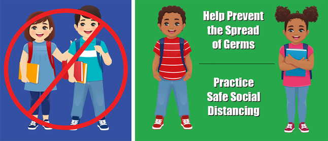 Image for Healthy Habits Wall Stickers, Help Prevent The Spread Of Germs, 5 Pack from School Specialty