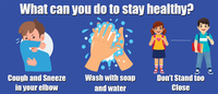 Image for Healthy Habits Wall Stickers, What Can You Do To Stay Healthy, 5 pack from School Specialty