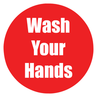 Image for Healthy Habits Floor Stickers, Wash Your Hands, 5 Pack, Red, Non-Slip from School Specialty
