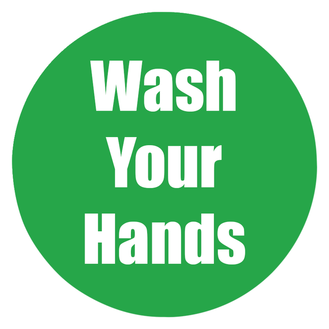 Image for Healthy Habits Floor Stickers, Wash Your Hands, 5 Pack, Green, Non-Slip from School Specialty