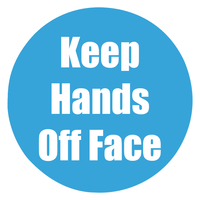 Image for Healty Habits Floor Stickers, Keep Hands Off Face, 5 Pack, Cyan, Non-Slip from School Specialty