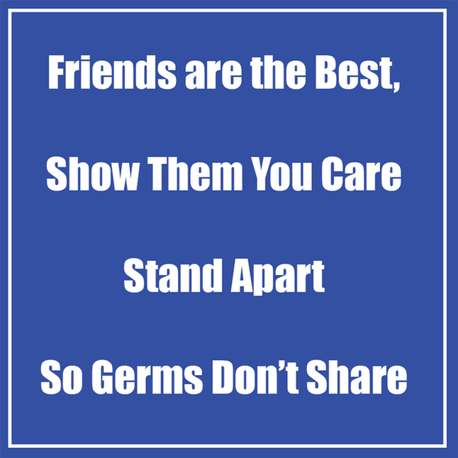 Image for Healthy Habits Floor Stickers, Friends Are The Best, Blue, 5 pack, Non-Slip from School Specialty
