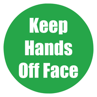 Image for Healty Habits Floor Stickers, Keep Hands Off Face, 5 Pack, Green, Non-Slip from School Specialty