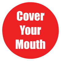 Image for Healthy Habits Floor Stickers, Cover Your Mouth, 5 Pack, Red, Non-Slip from School Specialty