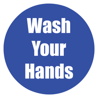 Image for Healthy Habits Floor Stickers, Wash Your Hands, 5 Pack, Blue, Non-Slip from SSIB2BStore