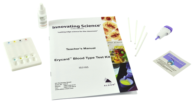 Image for Aldon Blood Type Single Test Kit from School Specialty