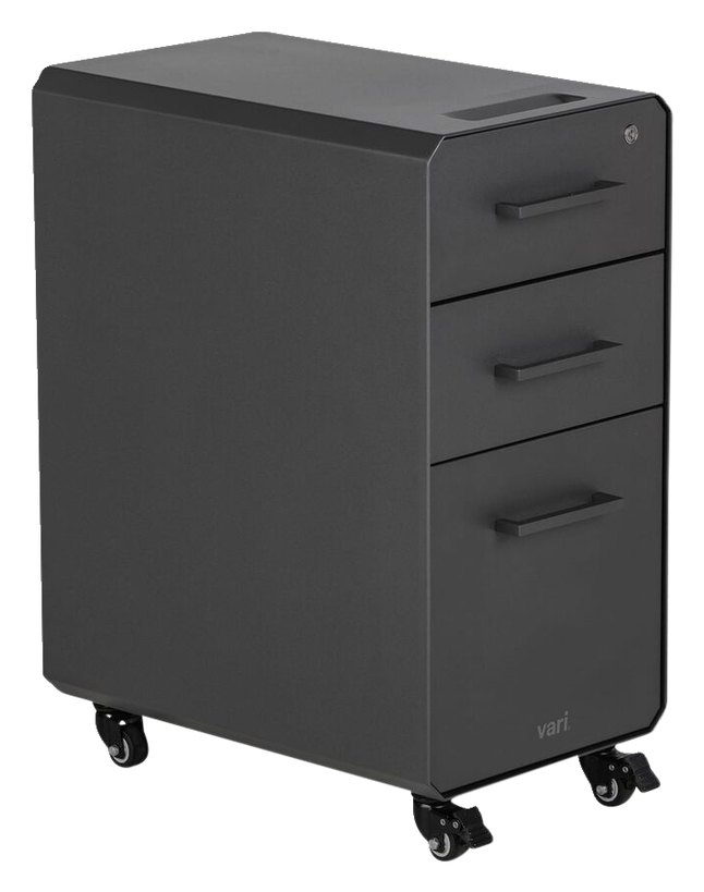 Image for VARI Slim File Cabinet, Slate from School Specialty