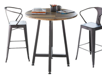 Image for VARI Standing Round Table, Reclaimed Wood from School Specialty