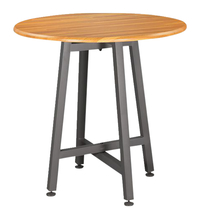 Image for VARI Standing Round Table, Butcher Block from School Specialty
