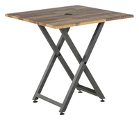 Image for VARI Standing Meeting Table, Reclaimed Wood from School Specialty