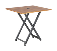 Image for VARI Standing Meeting Table, Butcher Block from School Specialty