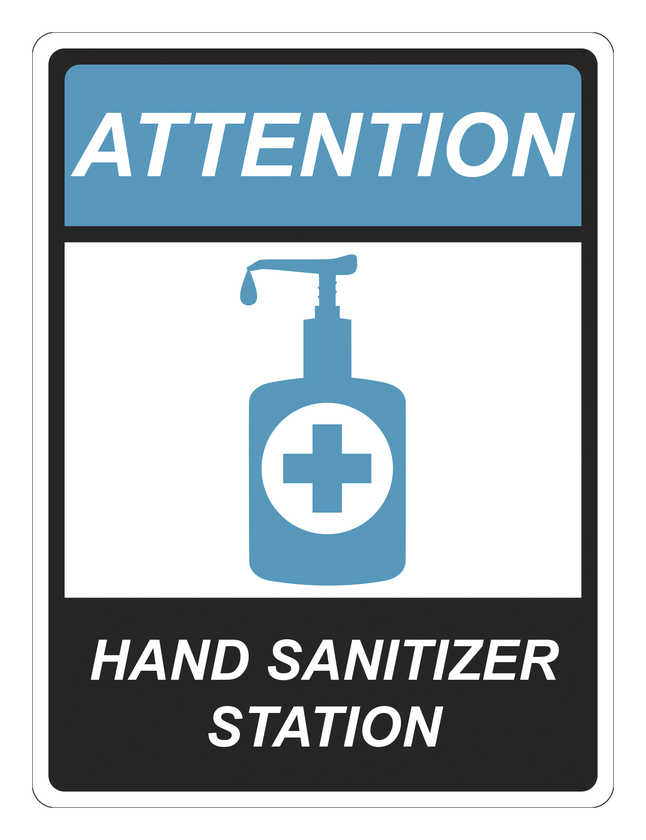 Image for Critical Communication Sign, Hand Sanitizer, Pack of 5 from School Specialty