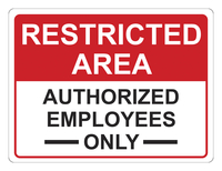 Image for Critical Communication Sign, Restricted Area, Pack of 5 from SSIB2BStore