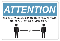 Image for Critical Communication Sign, Social Distance, Pack of 5 from SSIB2BStore