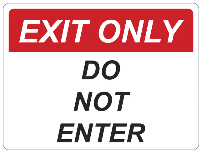 Image for Critical Communication Sign, Exit Only, Pack of 5 from School Specialty