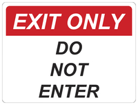 Image for Critical Communication Sign, Exit Only, Pack of 5 from SSIB2BStore