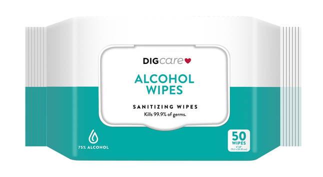 Image for DIGCare Anti-bacterial Wet Wipe, 50 wipes from School Specialty