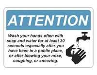 Image for Critical Communication Sign, Handwash, Pack of 5 from SSIB2BStore