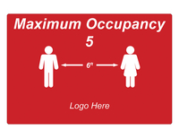 Image for Critical Communication Sign, Maximum Occupancy, Pack of 5 from SSIB2BStore