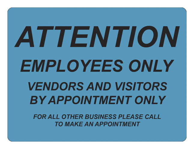 "Image for Critical Communication Sign, Attention Employees Only, 6x9"", Pack of 5 from School Specialty"