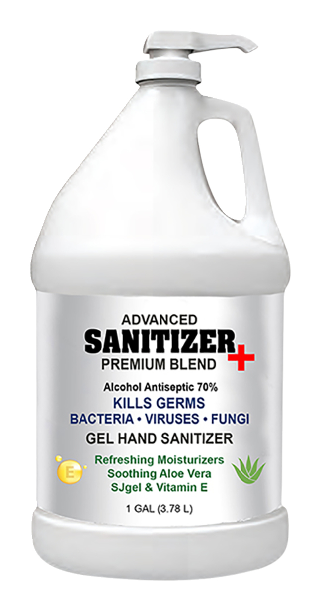 Image for Sanitizer Plus Hand Sanitizer Gel, with pump, 1 Gallon, 70% alcohol, Case of 4 from School Specialty