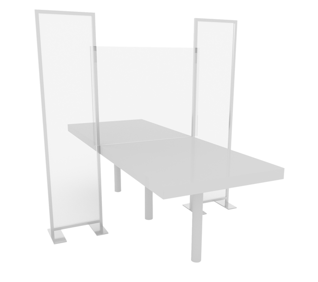 Image for Elkay Community Table Screen, 3 Piece Panel Partition, Clear from School Specialty